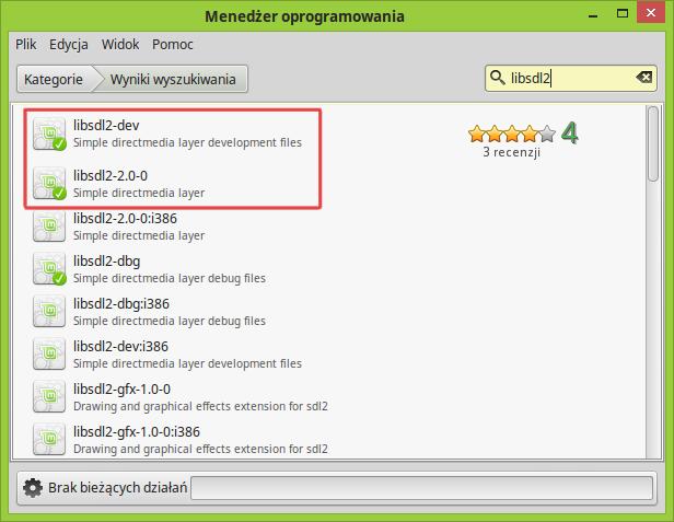 SDL2 - instalacja w Linux Mint