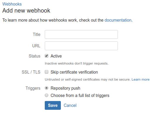 Bitbucket - dodawanie webhooka